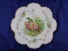 "Rosenthal RC Monbijou Bavaria Scalloped Wild Roses 9.5"" Plate Dish Decorative"