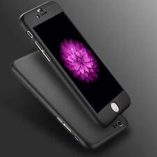 "Funda rígida ultrafina iPhone 6 6S cubierta de vidrio templado para 4.7"" híbrido 360 ° Negro"