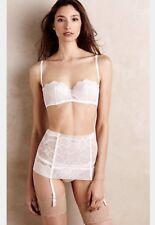 NEW La Perla Iris Garter Belt Size Medium Lingerie Intimates White Lace Wedding