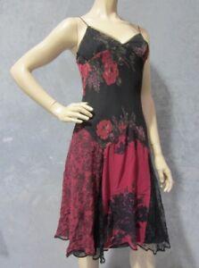 BETSEY JOHNSON 1990s Retro Vintage NWT Silk Slip Dress Size 10 US 6 Lace