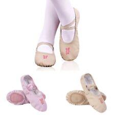 Kids Girls PU Leather Soft Ballet Dance Shoes Slippers Split Sole Flat US Size