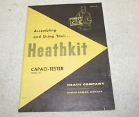 Vintage 1957 HEATHKIT Capaci-Tester CT 1 Assembly Manual w/Pictorial J1065