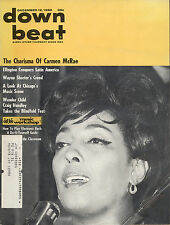 Down Beat magazine 12 December 1968 Carmen McRae/ Wayne Shorter /47 year Old Ads