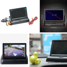 """Folding 4.3"""" TFT LCD Screen Car Reverse Parking Rearview Monitor Display Image"""
