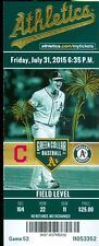 2015 Oakland A's vs Indians Ticket: Danny Salazar gives up 1 hit 8 inning win