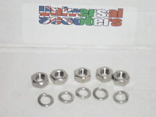 Stainless Steel Vespa Wheel Nut Kit, 5x Sprung Washer & M8 Nut for wheel rim.