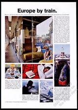 1966 TEE Trans Europe Express train photo European Railroad vintage print ad
