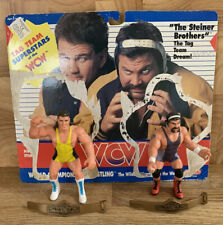 WWF/WCW Vintage Wrestling Rick & Scott Steiner Figure Tag Team Belts Galoob 1990