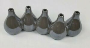Torre Tagus Opalescent Taupe Multi Tube Vase 5 Piece Oval Decorative Home Decor