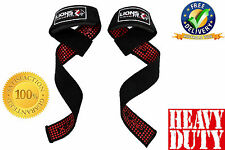 GEL LIFTING STRAPS, EXTRA GRIP NO SLIP PADDED WEIGHT LIFTING STRAPS