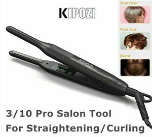 KIPOZI Small Pencil Short Pixie Cut Hair Flat Iron Curling Straightener 0.3 Inch