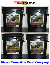 Four Wise Food Company 60 Servings Freeze-Dried Meat Bucket+Free Rice