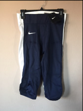 NWT Nike Mens Blue White Compression Football Game Pants Style 615745 Size Small