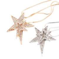 Fashion Double Chains Star Pendent Necklace Sweater Chain Women Girl Jewelry