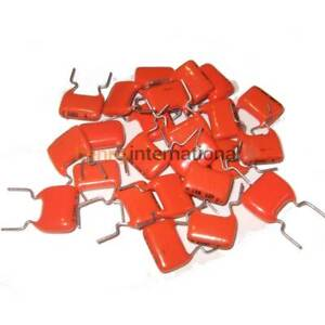 10x 27nF 250V MKT CAPACITOR PHILIPS Metallized Polyester Film