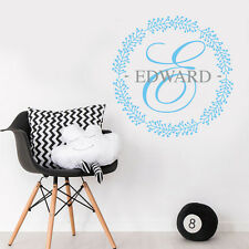 Personalise Initial Name Baby BOY NURSERY BEDROOM Wall Sticker Decal Decor