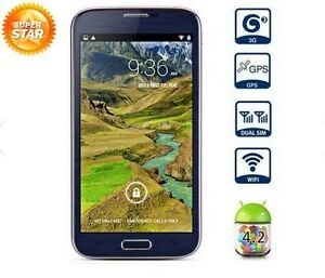 """Android 4.2 3G Smart Phone 5.3"""" IPS Screen Quad Core 1GB RAM Dual Cameras & GPS"""