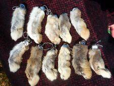 Lucky 11 Rabbits Foot Rabbit'S Feet Qty 11 Genuine Rabbit'S Foot Natural Key Cha