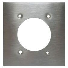 2-Gang Stainless Steel Dryer Receptacle Wallplate - NEW