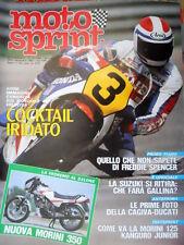 Motosprint 37 1983 Nuova Morini 350. Prime foto Cagiva-Ducati. F. Spencer [Q76]