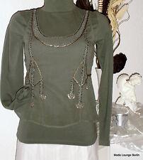 NOA NOA BLUSA TOP ,Fabulous VISCOSA, talla XS 34 , SLOWA verde NUEVO blusa