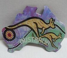 Australian Souvenir MAGNET Kangaroos on Australia Map Fridge freezer aussie NEW