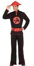 Déguisement Homme Chinois Noir M/L Costume Adulte Mandarin