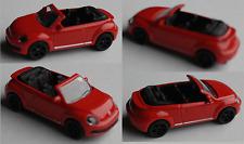 MAJORETTE-vw beetle cabriolet rouge avec NOIRS JANTES