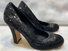 BEBE Sequin Black High Heel Women's Pump Shoes Size 8 M