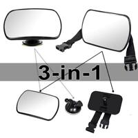3in1 360° Rotary Safe Suction Cup Car Back Seat Baby Rear View Mirror Strap