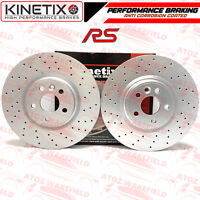 FOR FORD FOCUS MK2 RS 09-11 FRONT DRILLED PERFORMANCE BRAKE DISCS PAIR 336mm
