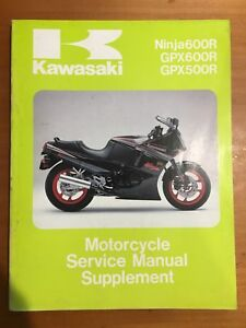 Kawasaki Ninja600R,GPX600R,GPX500R Service Manual Supplement '88 (99924-1081-51)