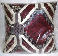 New Deign Accents Cotton Ethnic / Brown Throw Pillow 20'x20""