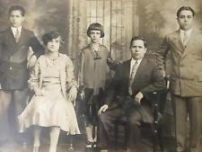 Sale ANTIQUE FAMILY PORTRAIT 1920s 1930 MAFIA ITALIAN NY CHICAGO MOB PHOTOGRAPH•