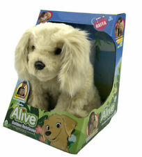 Realistic WowWee Alive Golden Retriever Dog Interactive Electronic Plush Toy