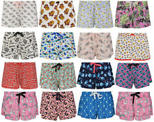 LADIES LOUNGE SHORTS CHARACTER EX UK STORE PYJAMA SLEEP PJ SHORT UK 4-20 NEW