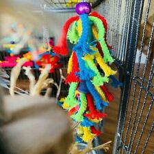 Color Tie Rope Bird Toys with Steel Hooks and Toys Safely Attach