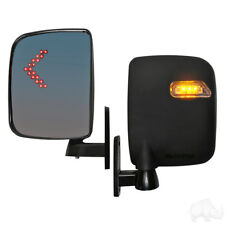 Golf Cart LED Turn Signal Side Mirrors Universal Fit Ezgo Yamaha Club Car Mirror