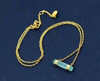 Chalcedony Gemstone Gold Plated Gift Necklace Solid 925 Sterling Silver
