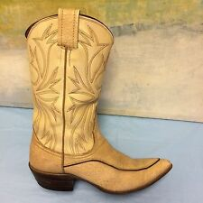 Nocona Boots Tan Leather Western Cowboy Boot Womens 7 B