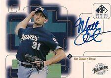 MATT CLEMENT 1999 UD SP Signature Edition Authentic Autograph Chicago Cubs