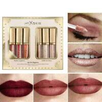 6 Colors/Set Matte Glitter Liquid Lipstick Glazed Lip Lasting L6 H8N9 Gloss T9X9