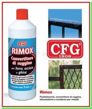 Convertitore di Ruggine RIMOX 1000ml Fosfatante Disossidante Togliruggine Lucida