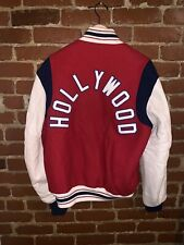 Rare Ebbets Field Hollywood Cooperstown Leather Wool Varsity Jacket Large