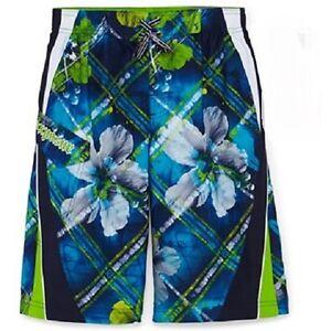 ZeroXposur Board Shorts Swim Trunks  ~ Size Med (5/6) ~ Blue & Green