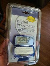 Omron Digital Pedometer HJ-105 Counts Steps Calories Fat Burned - Free Shipping
