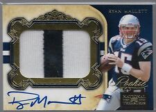 2011 National Treasures Gold Ryan Mallett On Card Auto 2 Color Patch Rc # to 49