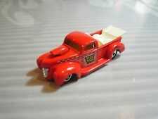 HOT WHEELS   loose = `40 FORD PICKUP =  RED w/t white bed ,  5sp