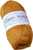 Classic Alpaca 100% Baby Alpaca Yarn #2180 Spicy Mustard 50g/110 yds DK Peruvian