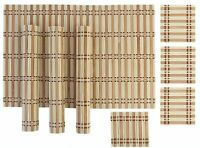 Bamboo Dinning Table Placemats with Tea Coasters(4 Pieces Mats 4 Pieces Coaster)